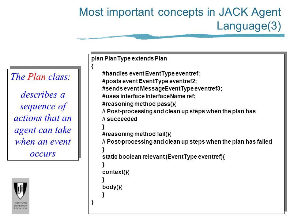 Most important concepts in JACK Agent Language(3)