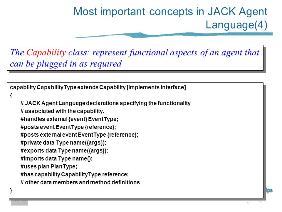 Most important concepts in JACK Agent Language(4)