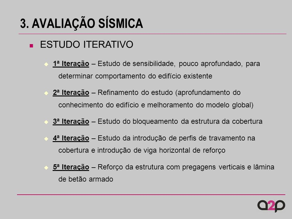 3. AVALIAÇÃO SÍSMICA ESTUDO ITERATIVO