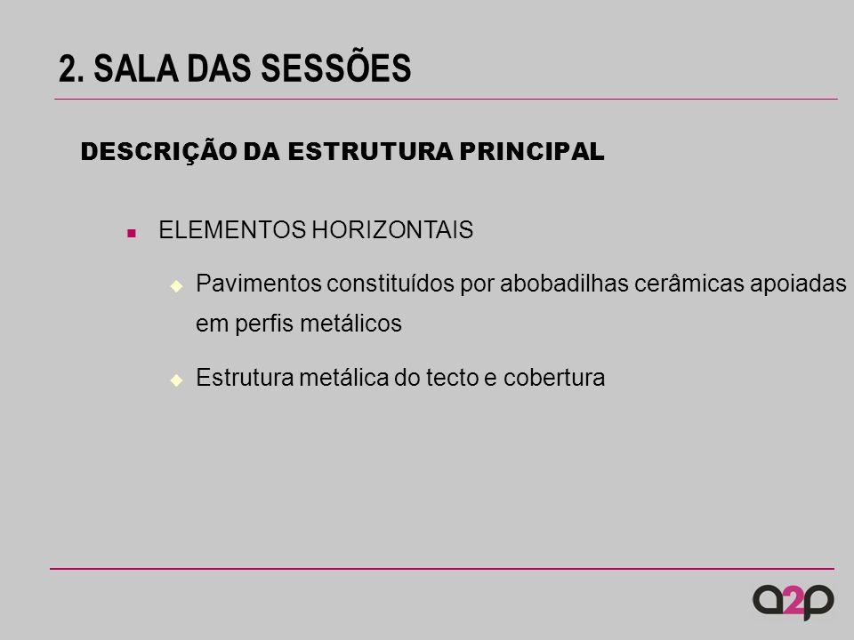 2. SALA DAS SESSÕES DESCRIÇÃO DA ESTRUTURA PRINCIPAL