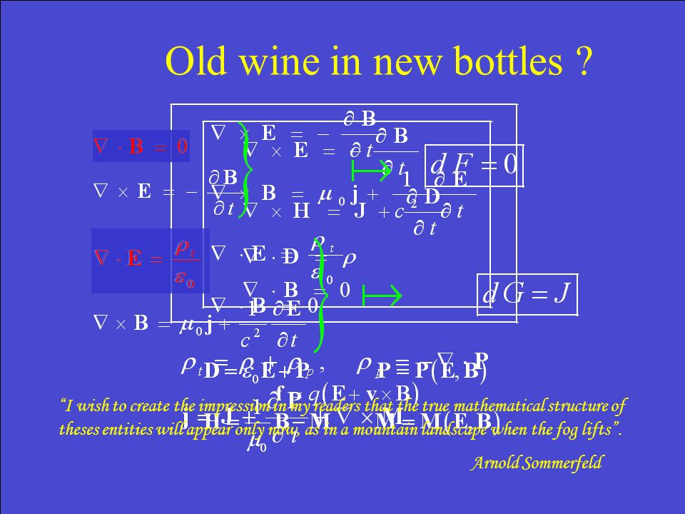 Old wine in new bottles