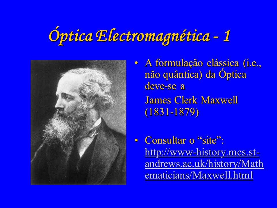 Óptica Electromagnética - 1