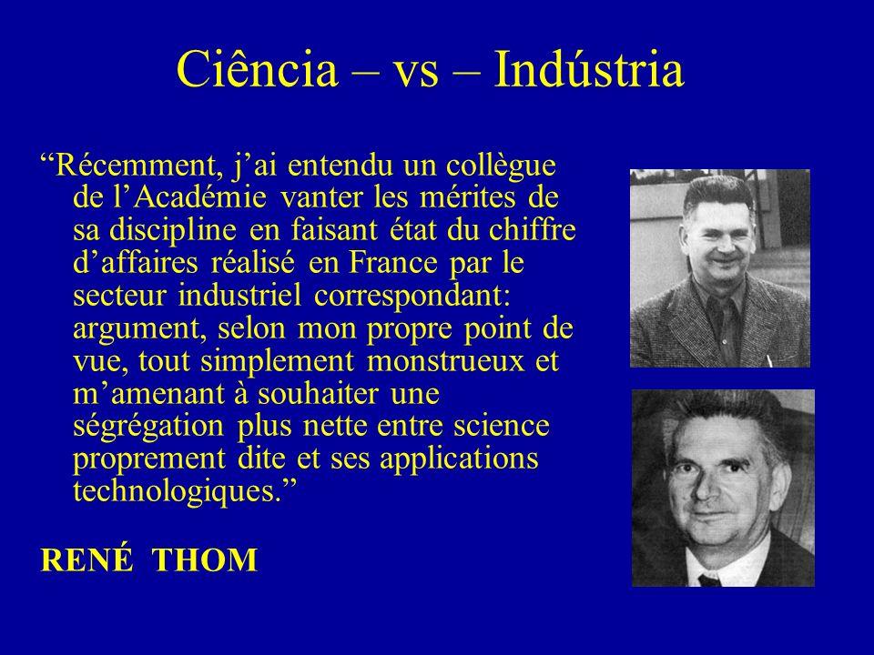 Ciência – vs – Indústria