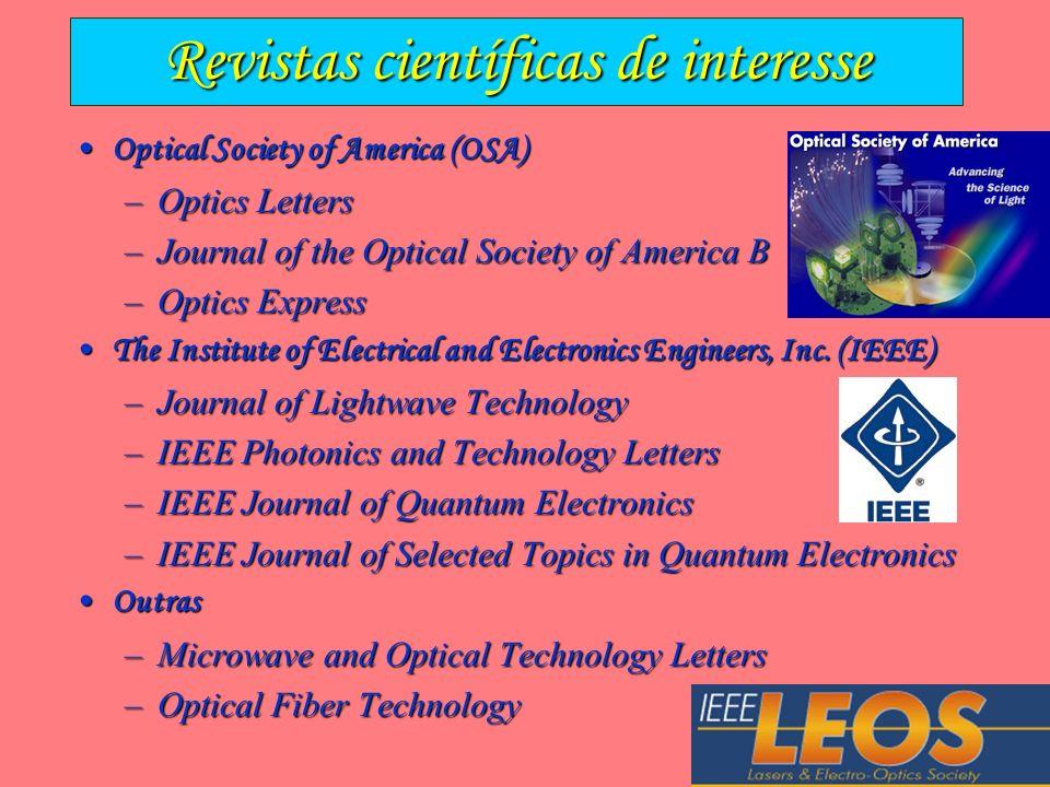 Revistas científicas de interesse