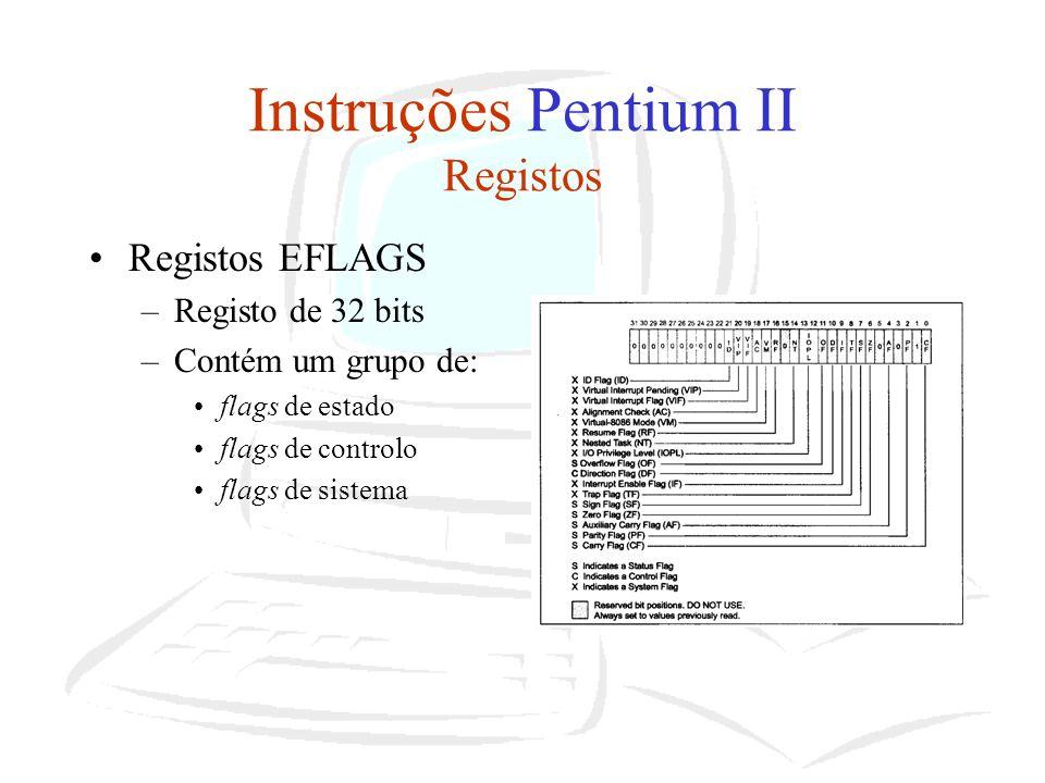 Instruções Pentium II Registos