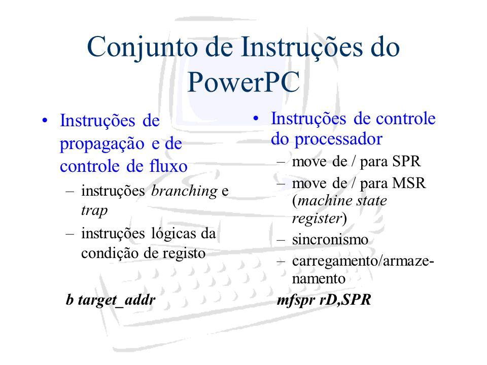 Conjunto de Instruções do PowerPC