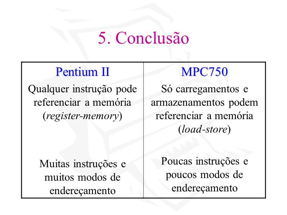5. Conclusão Pentium II MPC750