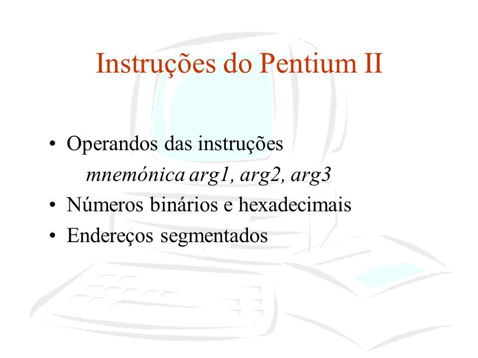 Instruções do Pentium II
