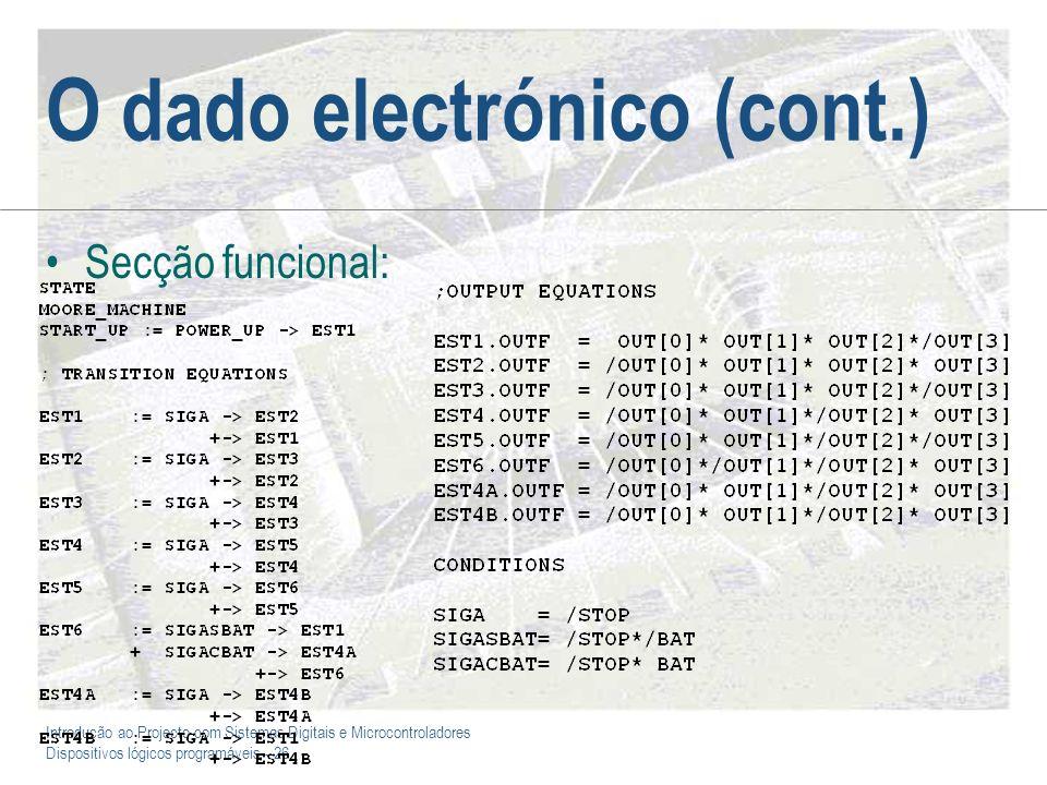 O dado electrónico (cont.)