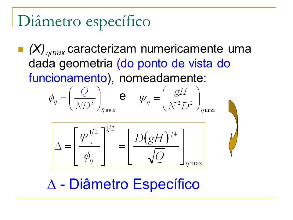 Diâmetro específico  - Diâmetro Específico
