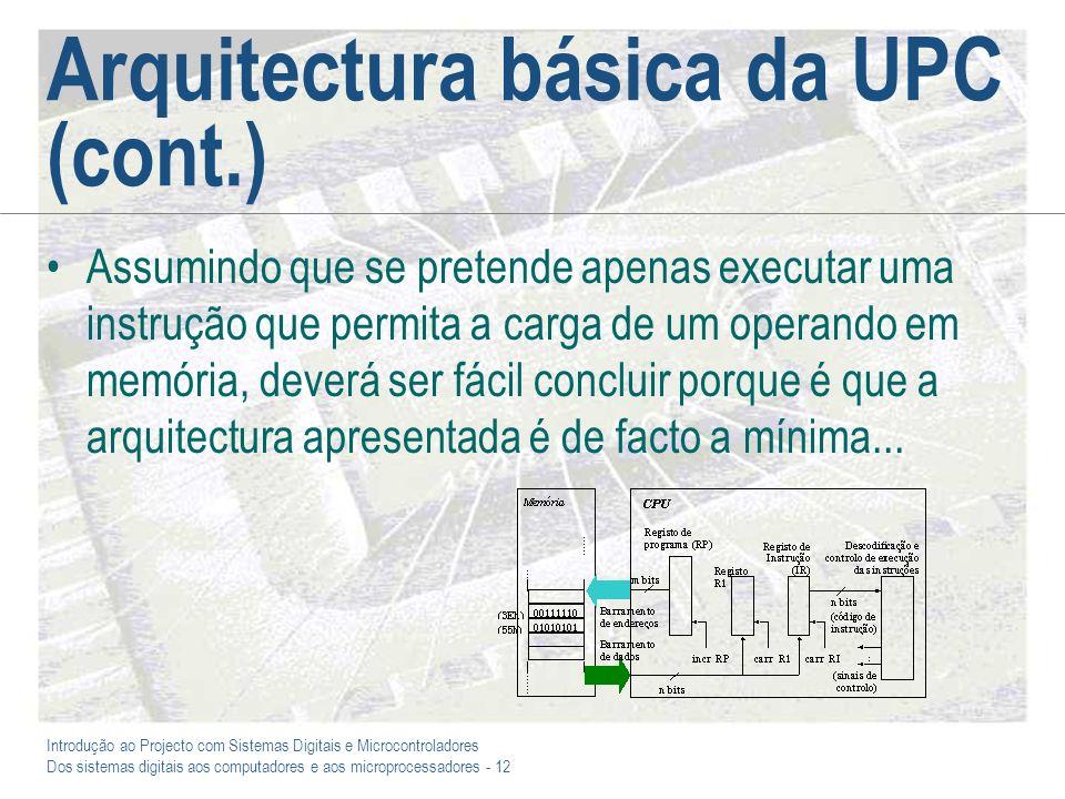 Arquitectura básica da UPC (cont.)