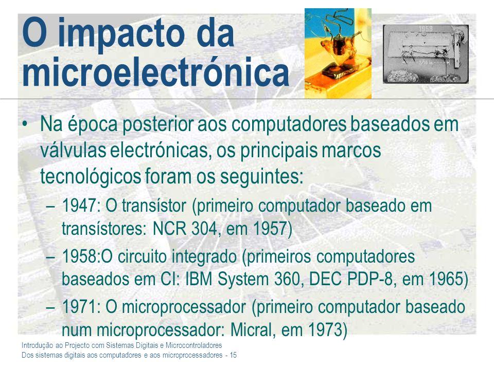 O impacto da microelectrónica