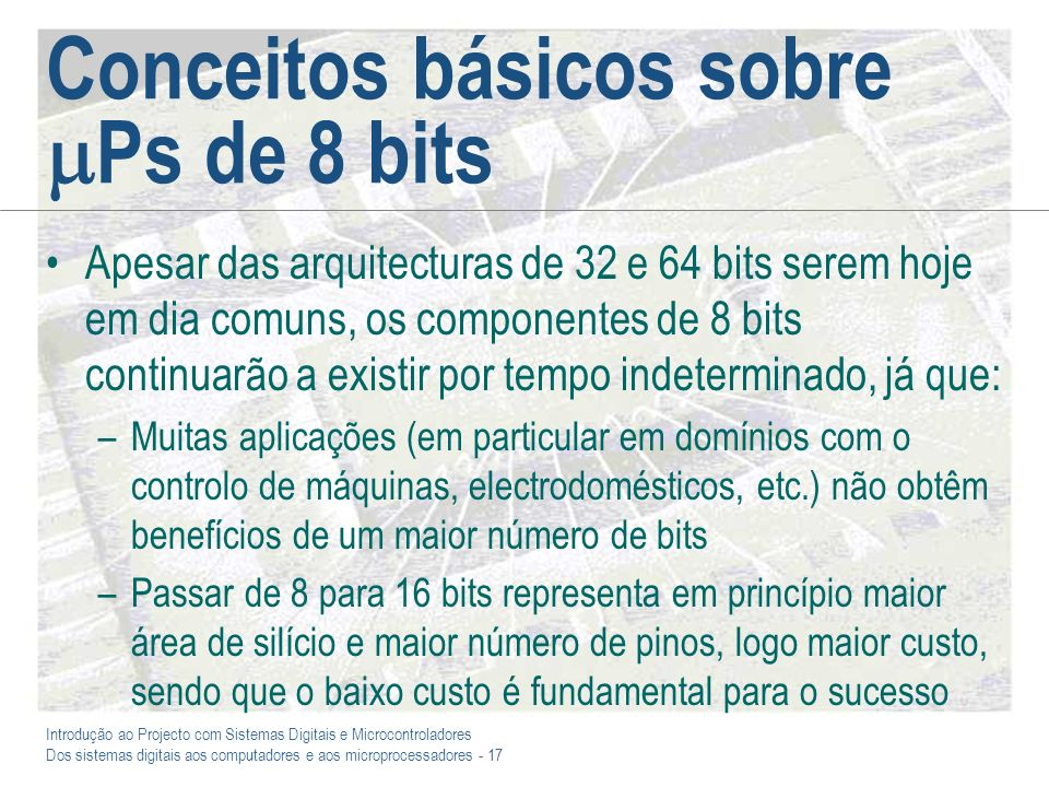 Conceitos básicos sobre Ps de 8 bits
