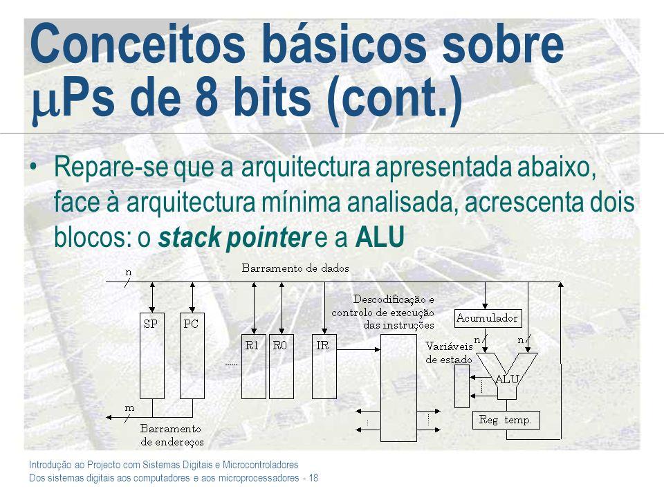 Conceitos básicos sobre Ps de 8 bits (cont.)