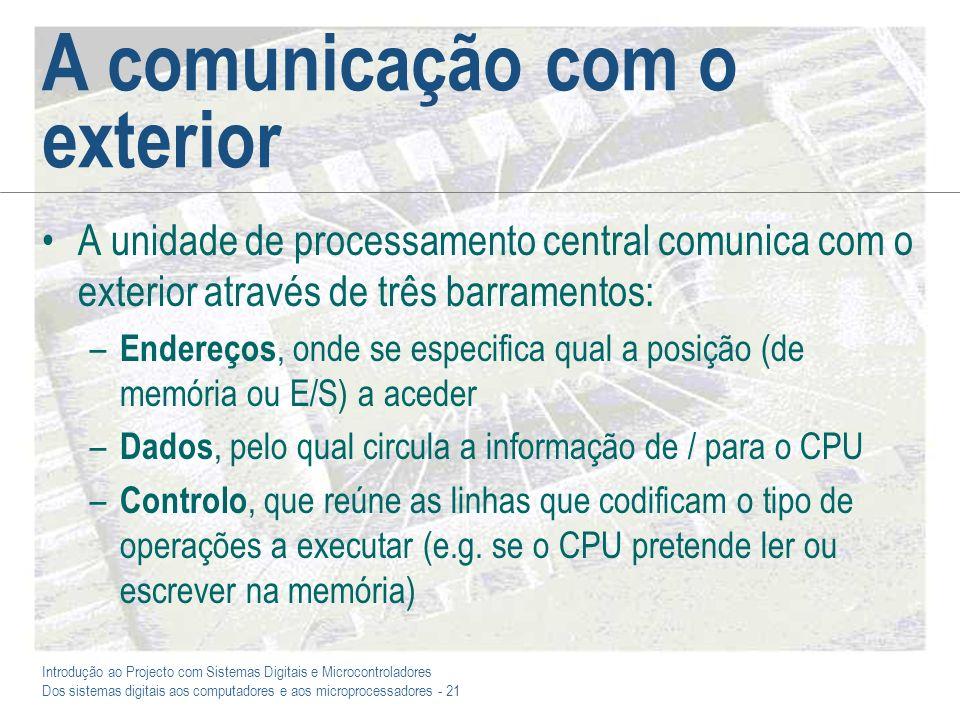 A comunicação com o exterior