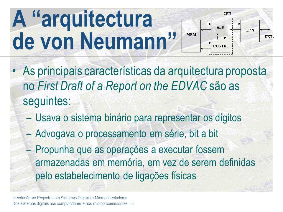 A arquitectura de von Neumann