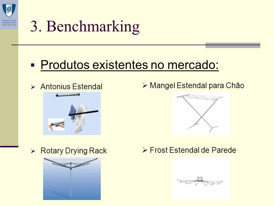 3. Benchmarking Produtos existentes no mercado: Antonius Estendal