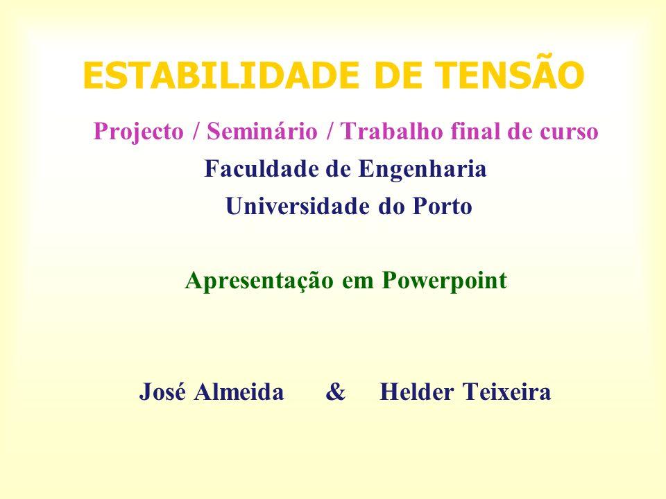 ESTABILIDADE DE TENSÃO