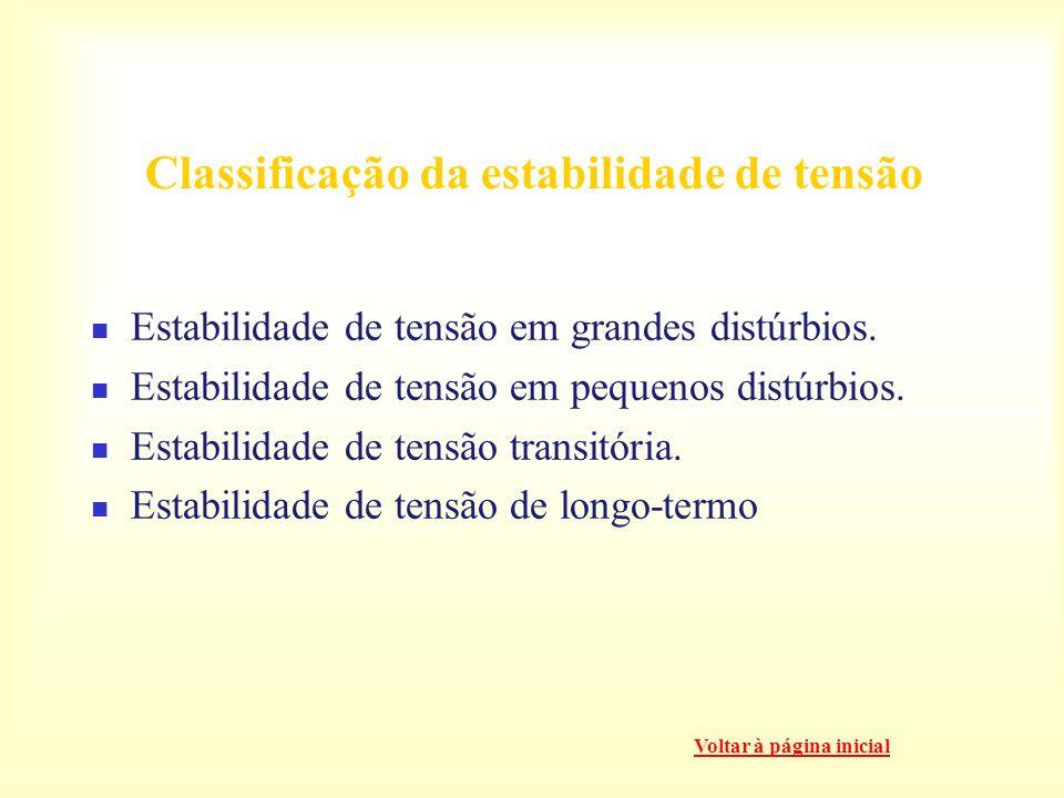 Classificação da estabilidade de tensão