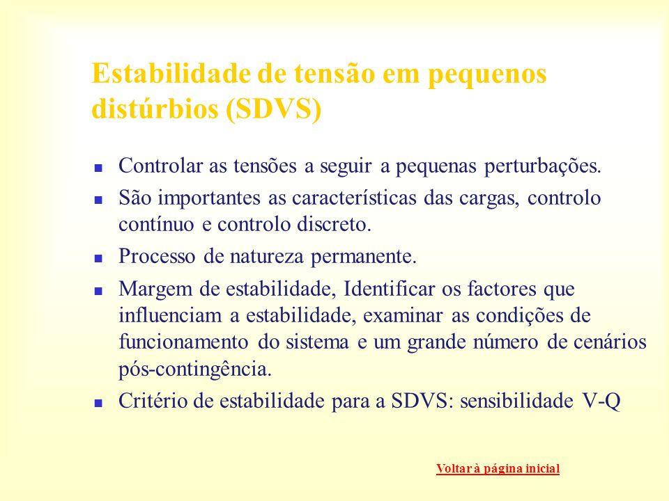 Estabilidade de tensão em pequenos distúrbios (SDVS)