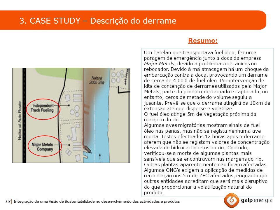 3. CASE STUDY – Descrição do derrame