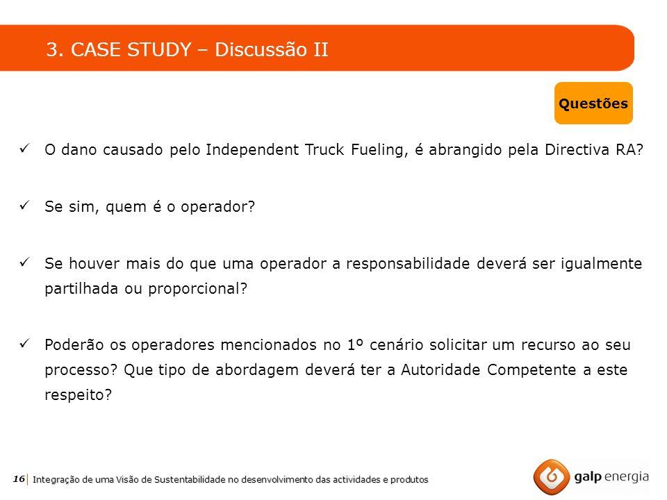 3. CASE STUDY – Discussão II