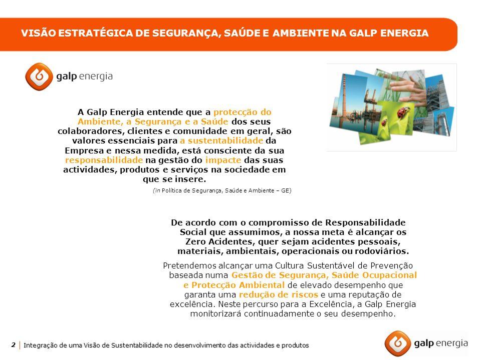 VISÃO ESTRATÉGICA DE SEGURANÇA, SAÚDE E AMBIENTE NA GALP ENERGIA
