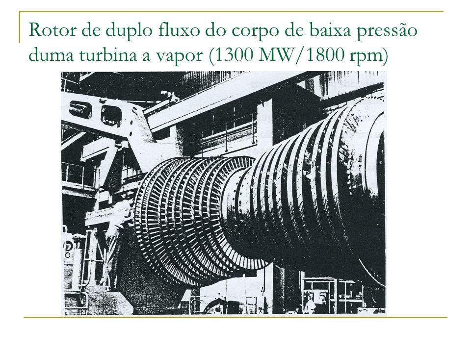 Rotor de duplo fluxo do corpo de baixa pressão duma turbina a vapor (1300 MW/1800 rpm)