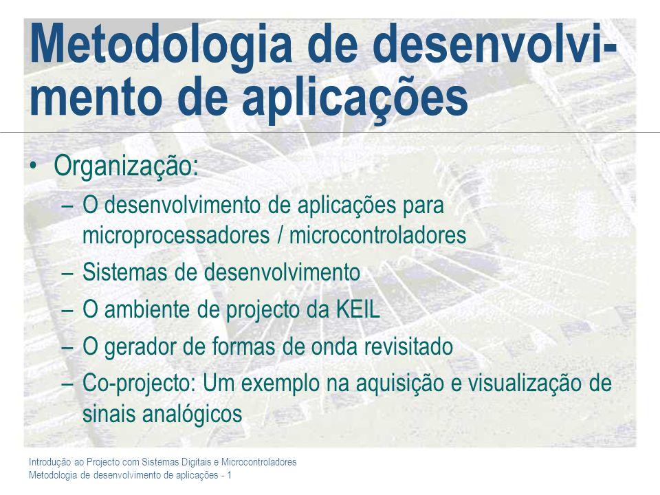 Metodologia de desenvolvi-mento de aplicações