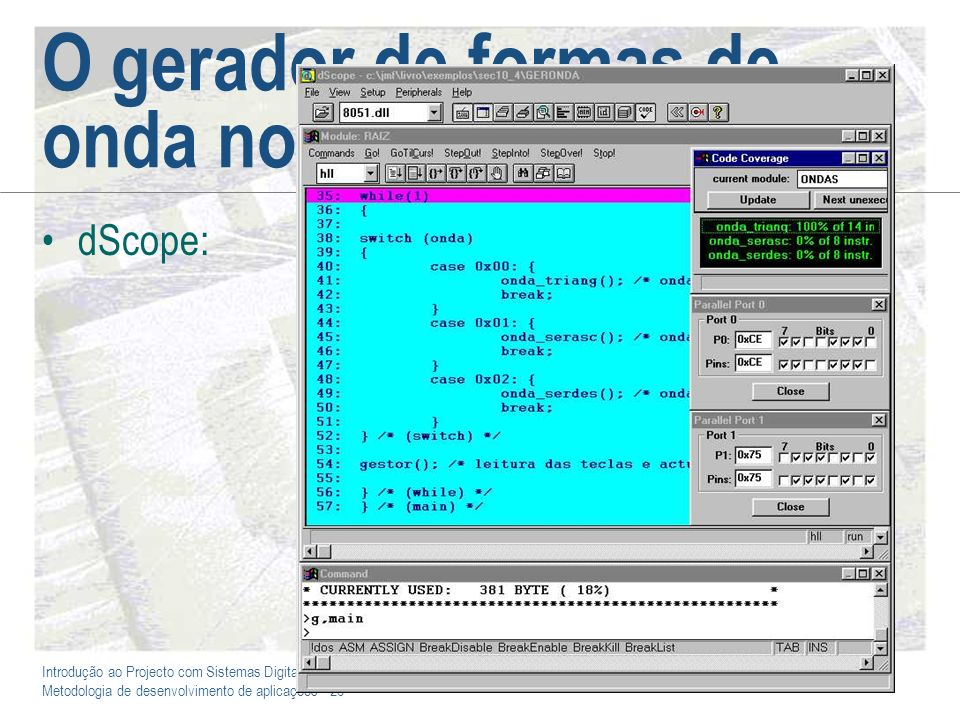 O gerador de formas de onda no dScope