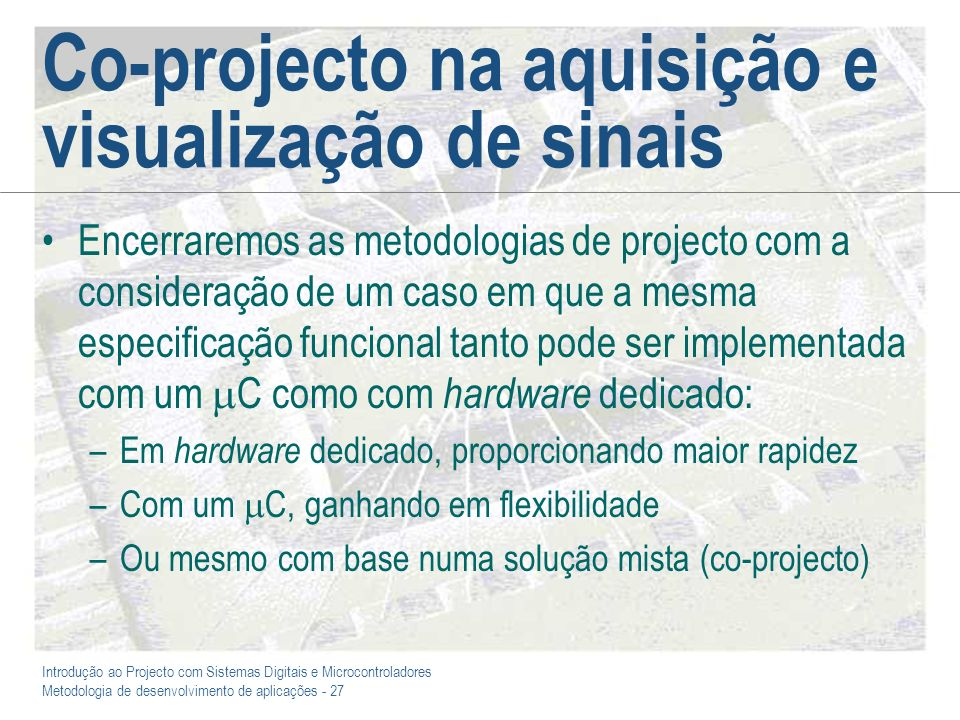 Co-projecto na aquisição e visualização de sinais