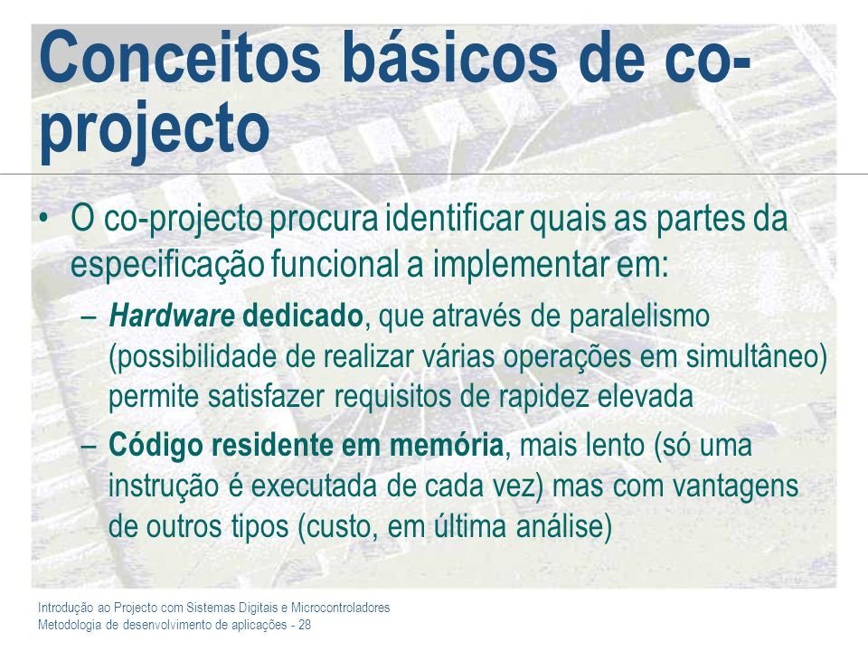 Conceitos básicos de co-projecto