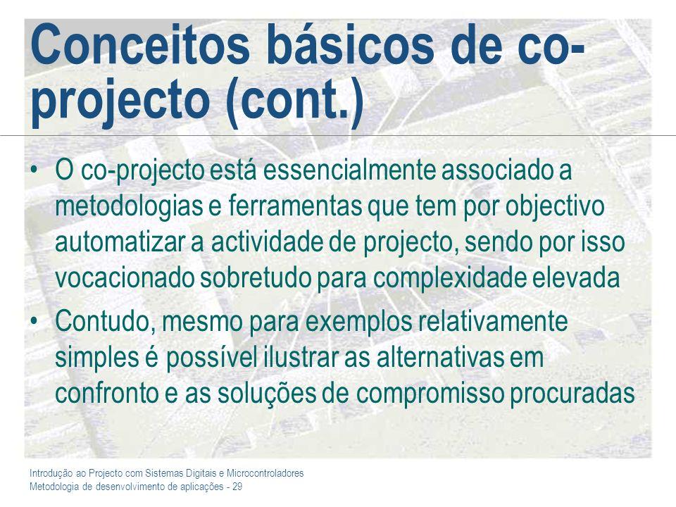 Conceitos básicos de co-projecto (cont.)