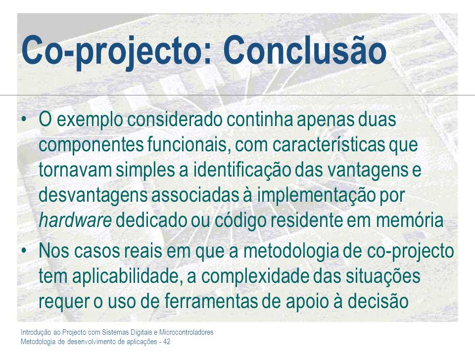 Co-projecto: Conclusão