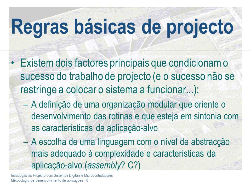 Regras básicas de projecto