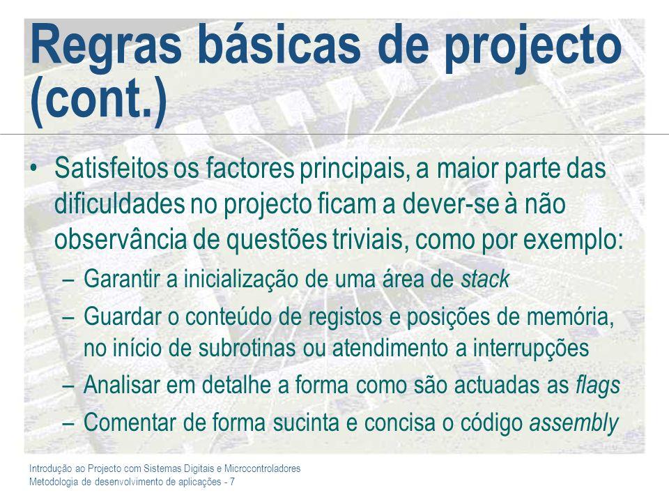 Regras básicas de projecto (cont.)