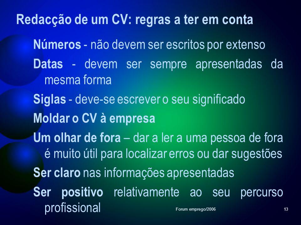 Redacção de um CV: regras a ter em conta
