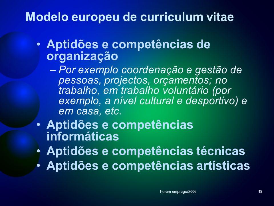 Modelo europeu de curriculum vitae