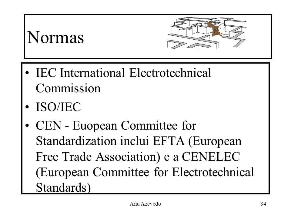 Normas IEC International Electrotechnical Commission ISO/IEC