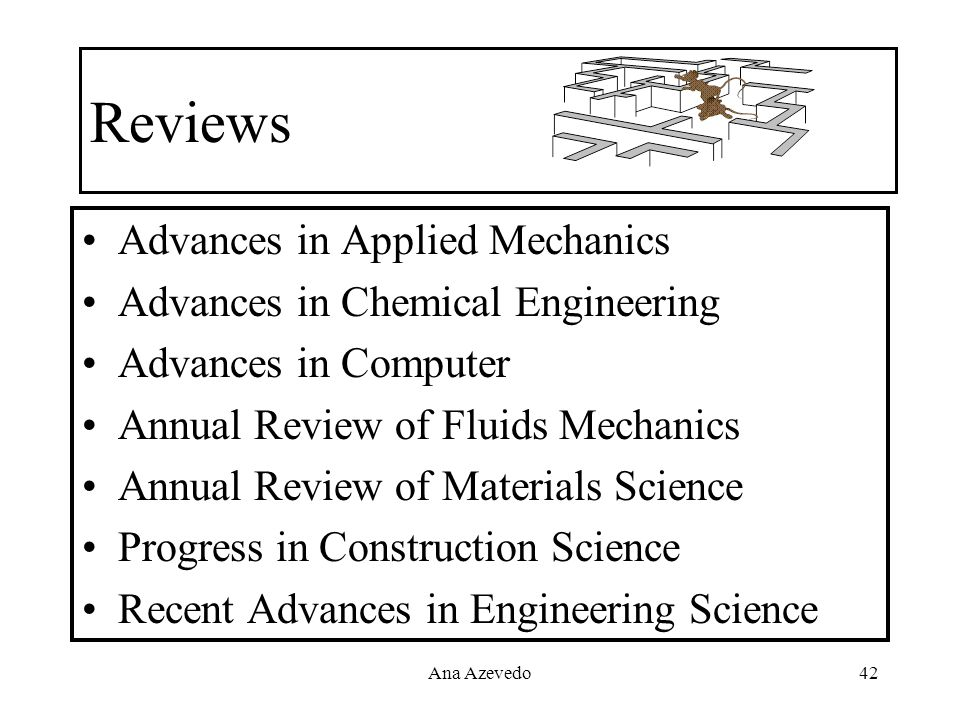 Reviews Advances in Applied Mechanics Advances in Chemical Engineering