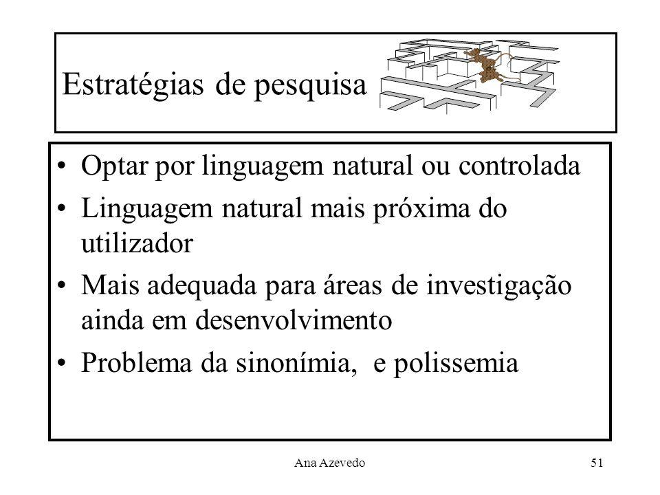Estratégias de pesquisa