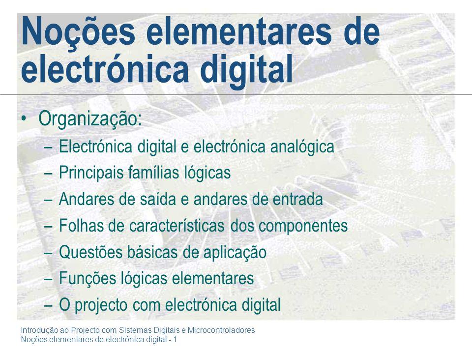 Noções elementares de electrónica digital