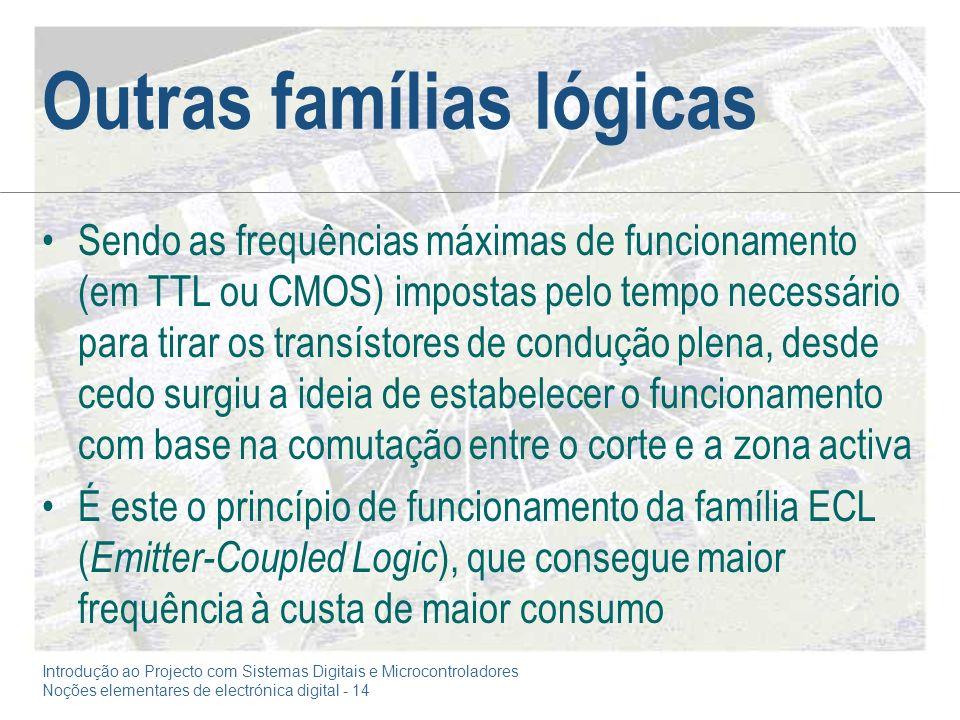 Outras famílias lógicas