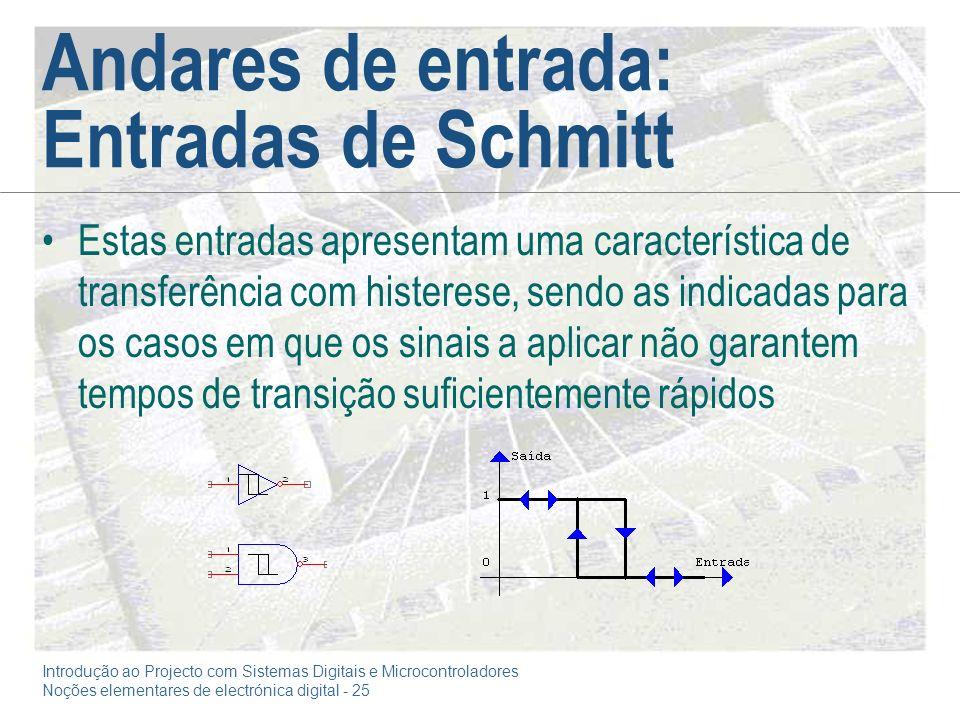 Andares de entrada: Entradas de Schmitt