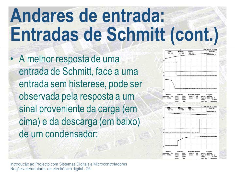 Andares de entrada: Entradas de Schmitt (cont.)
