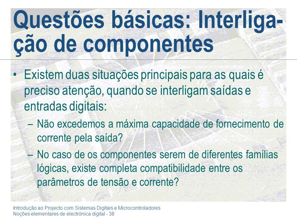 Questões básicas: Interliga-ção de componentes