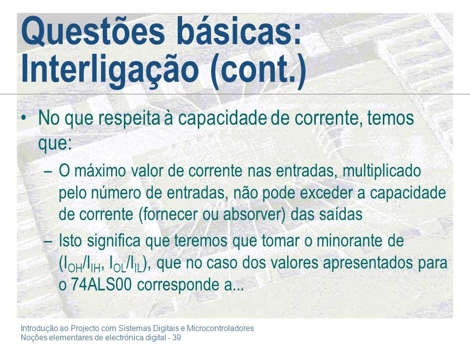 Questões básicas: Interligação (cont.)