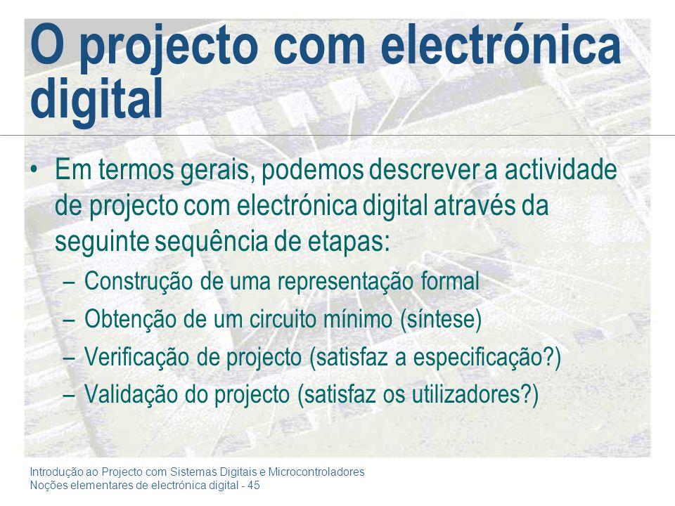 O projecto com electrónica digital