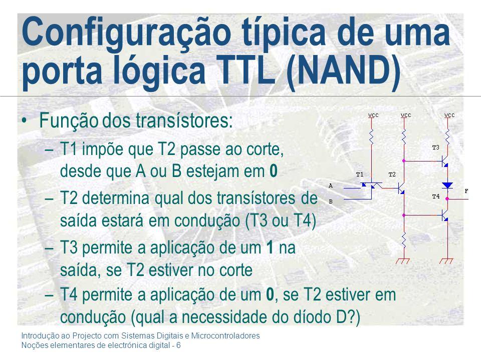 Configuração típica de uma porta lógica TTL (NAND)