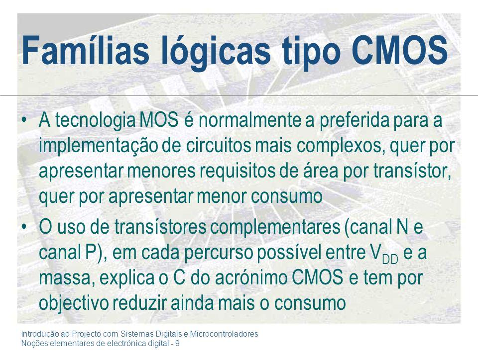 Famílias lógicas tipo CMOS